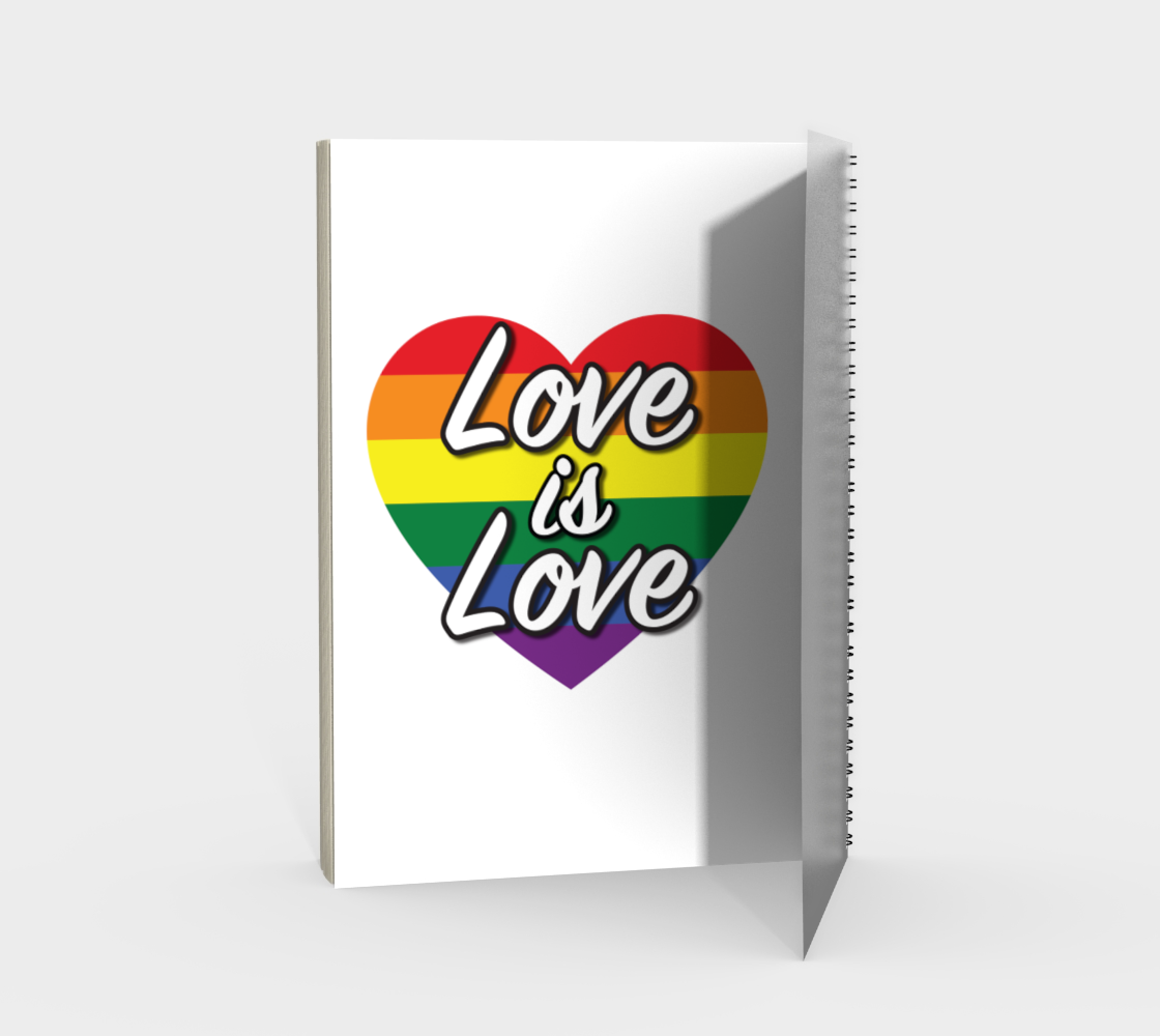 'Love Is Love' (White) Spiral Notebook preview #2