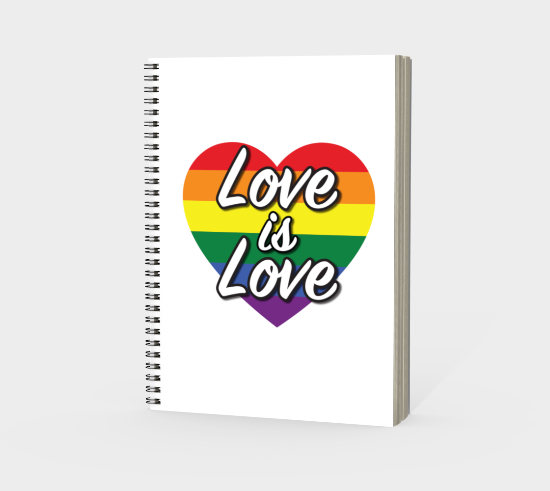 'Love Is Love' (White) Spiral Notebook preview #3