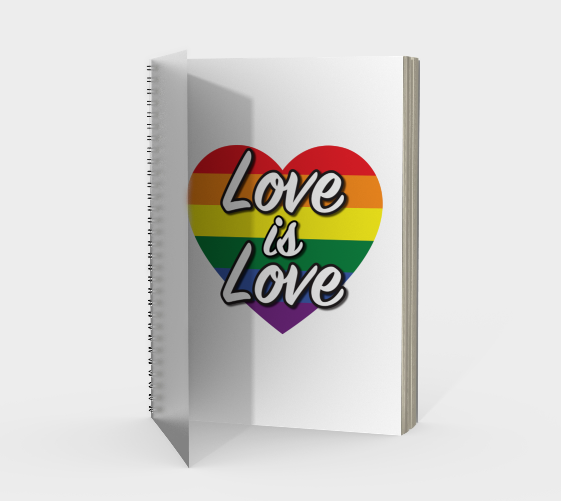 'Love Is Love' (White) Spiral Notebook preview #1