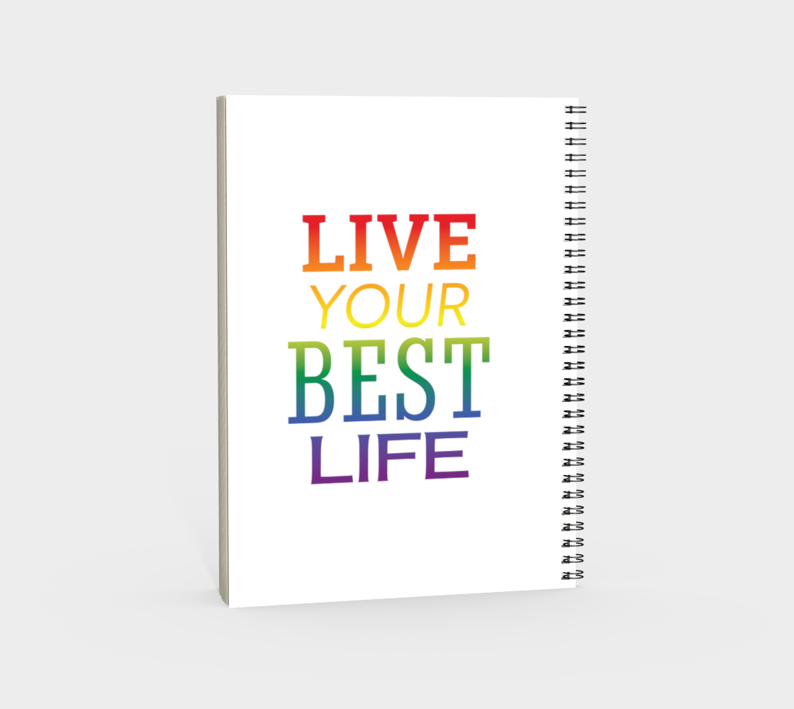 'Live Your Best Life' (White) Spiral Notebook preview #4