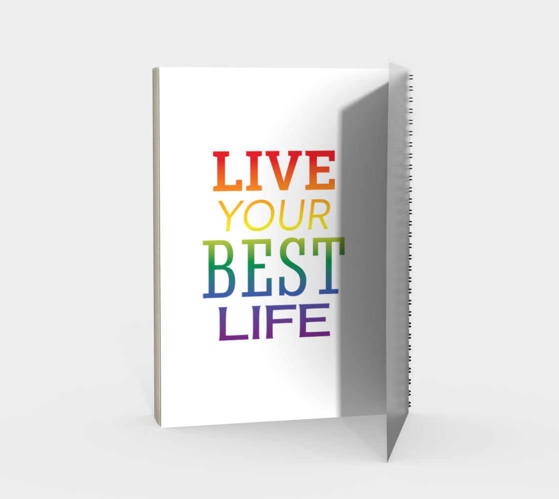 'Live Your Best Life' (White) Spiral Notebook preview #2