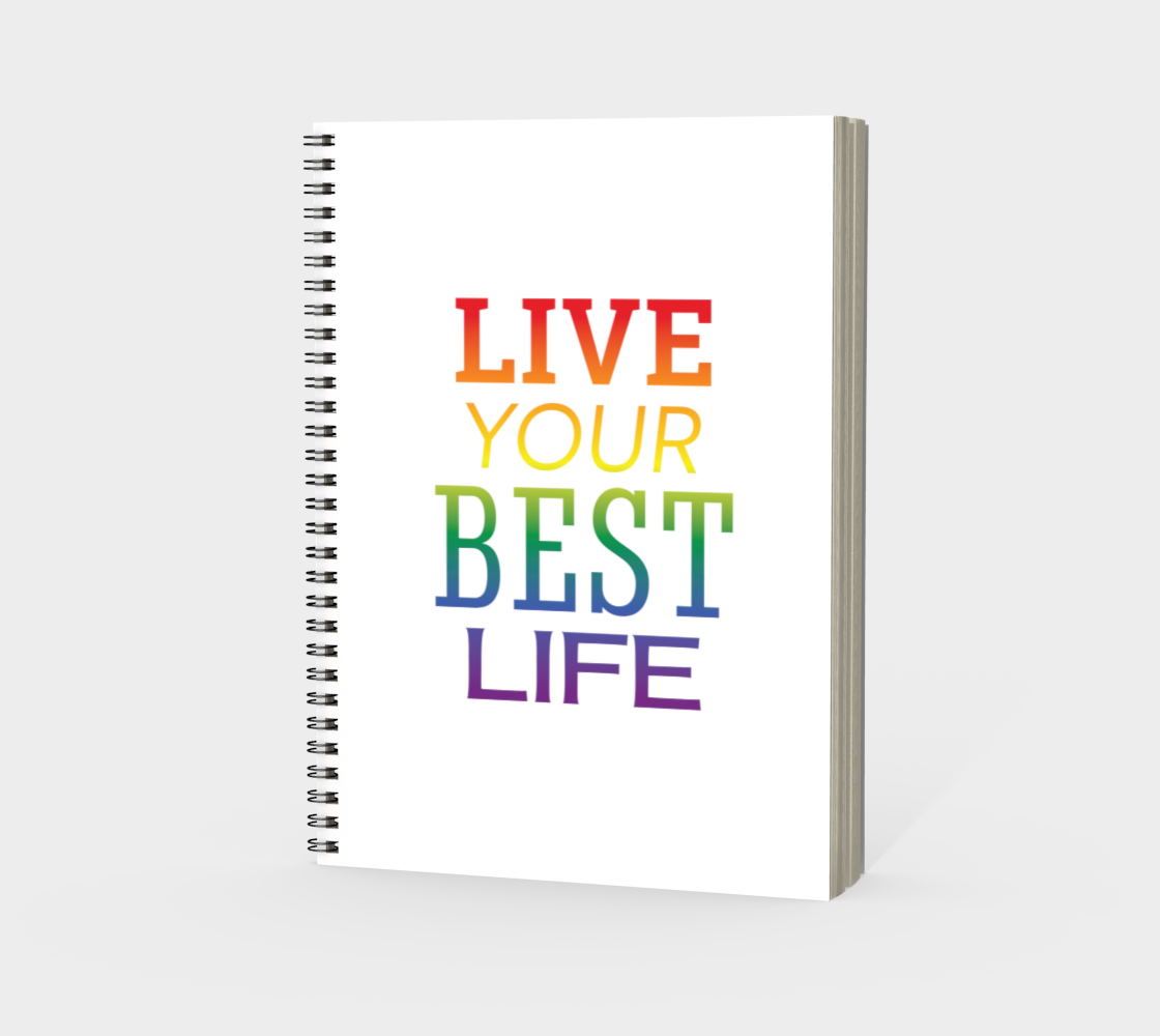 'Live Your Best Life' (White) Spiral Notebook preview #3