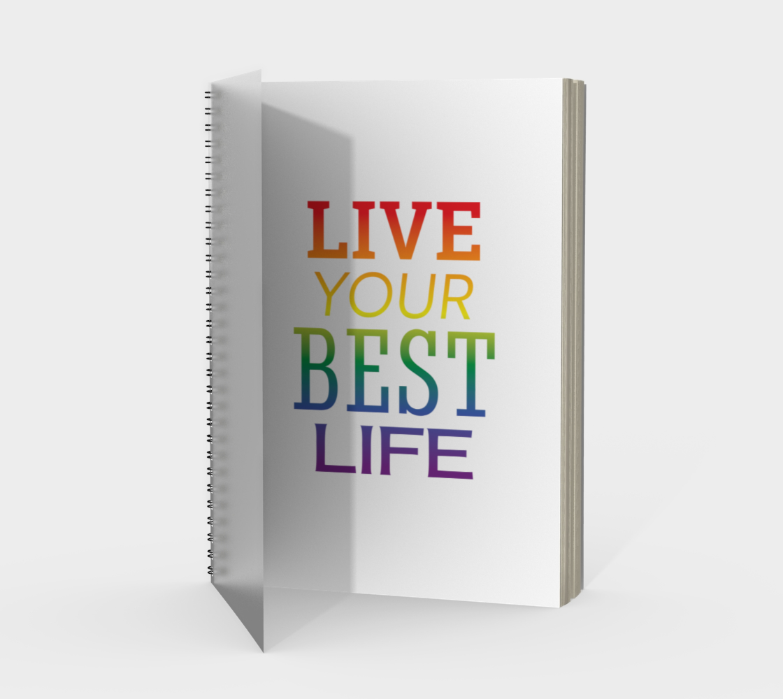 'Live Your Best Life' (White) Spiral Notebook preview