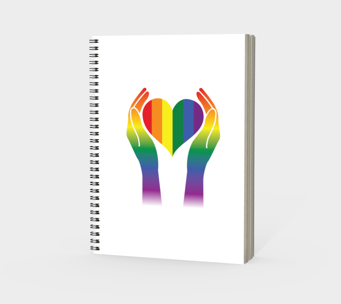 'Hands and Heart' (White) Spiral Notebook preview #3