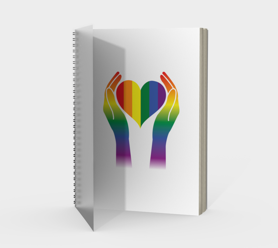 'Hands and Heart' (White) Spiral Notebook preview