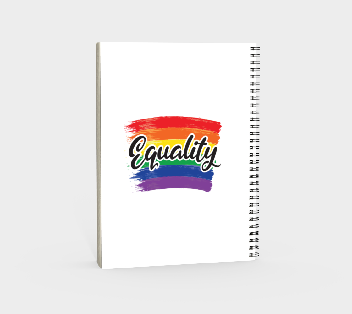 'Equality' (White) Spiral Notebook preview #4