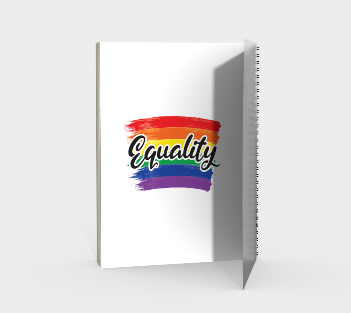 'Equality' (White) Spiral Notebook preview #2