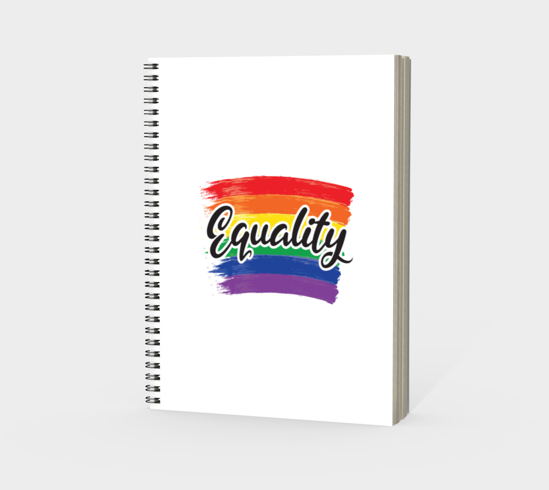 'Equality' (White) Spiral Notebook preview #3