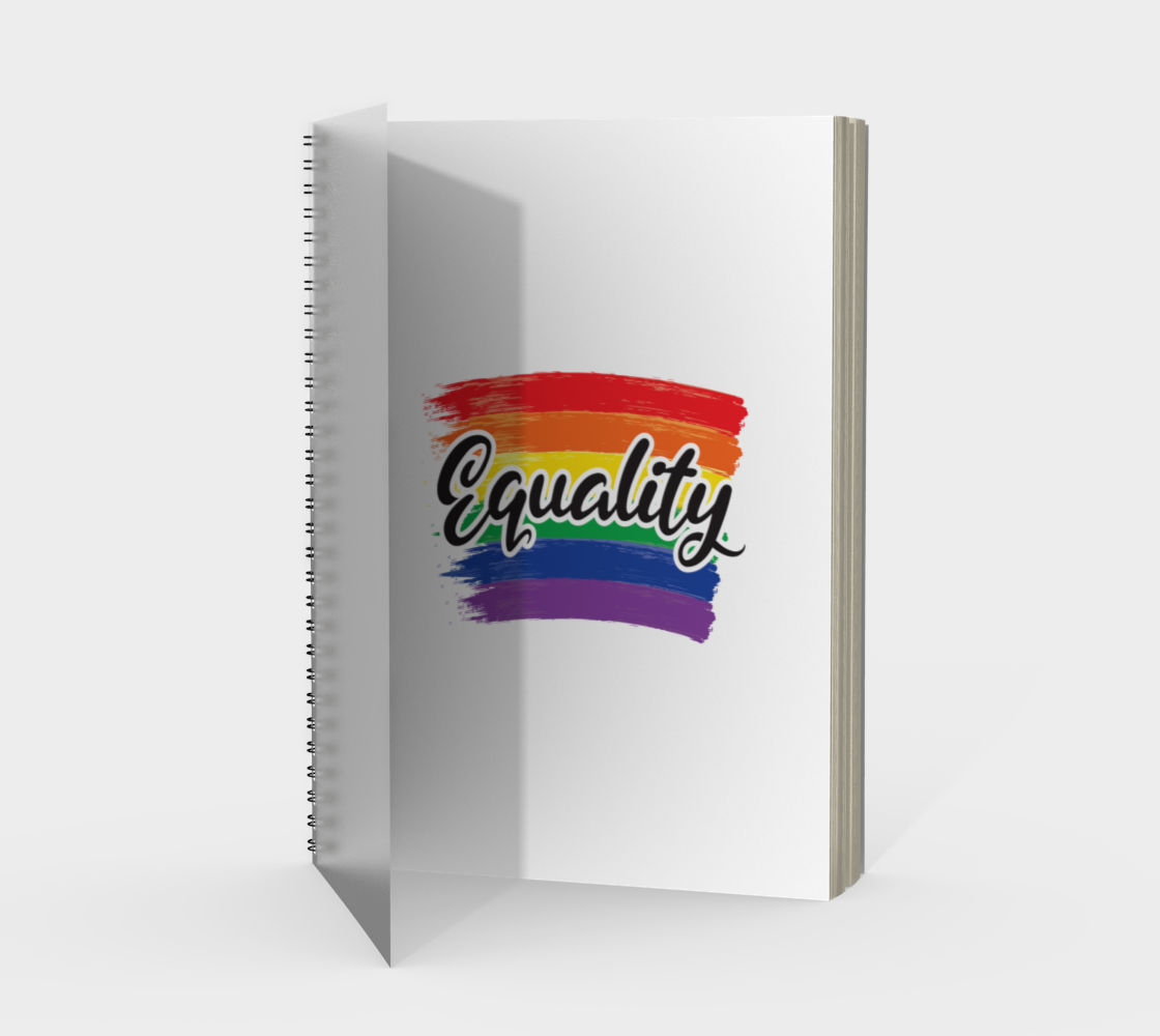 'Equality' (White) Spiral Notebook preview