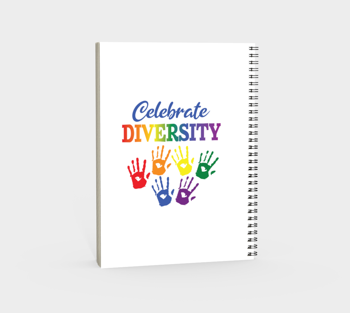 'Celebrate Diversity' (White) Spiral Notebook preview #4