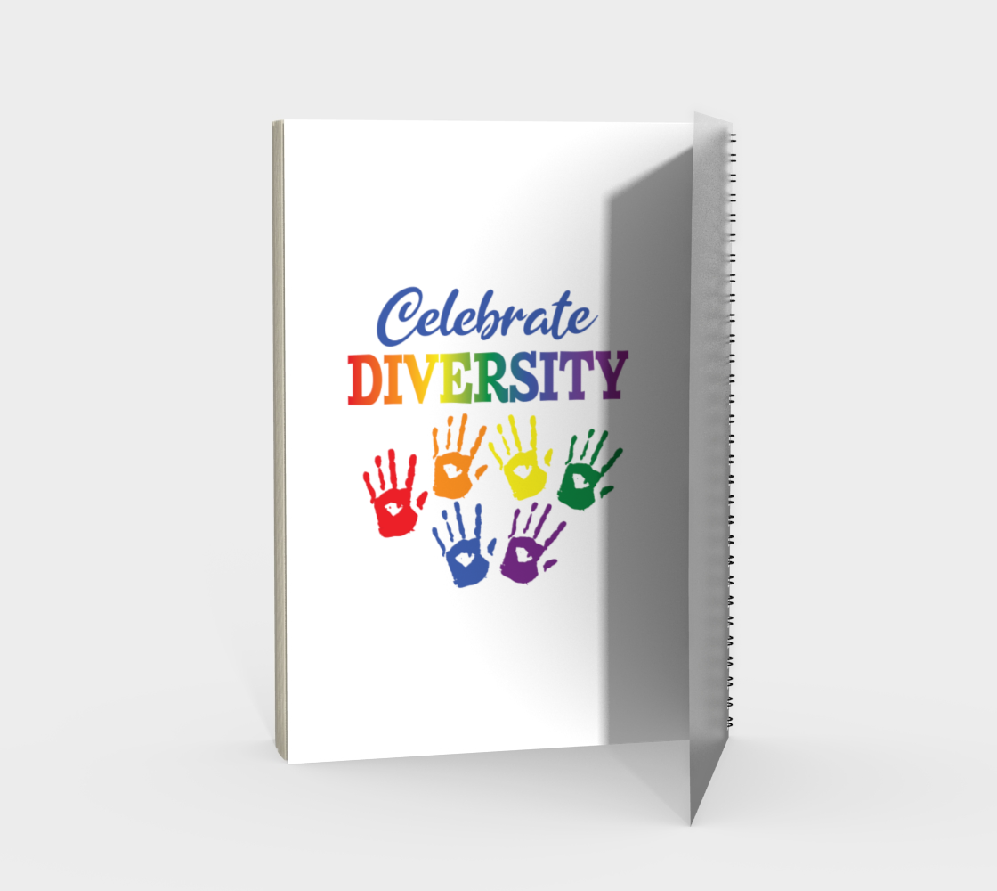 'Celebrate Diversity' (White) Spiral Notebook preview #2