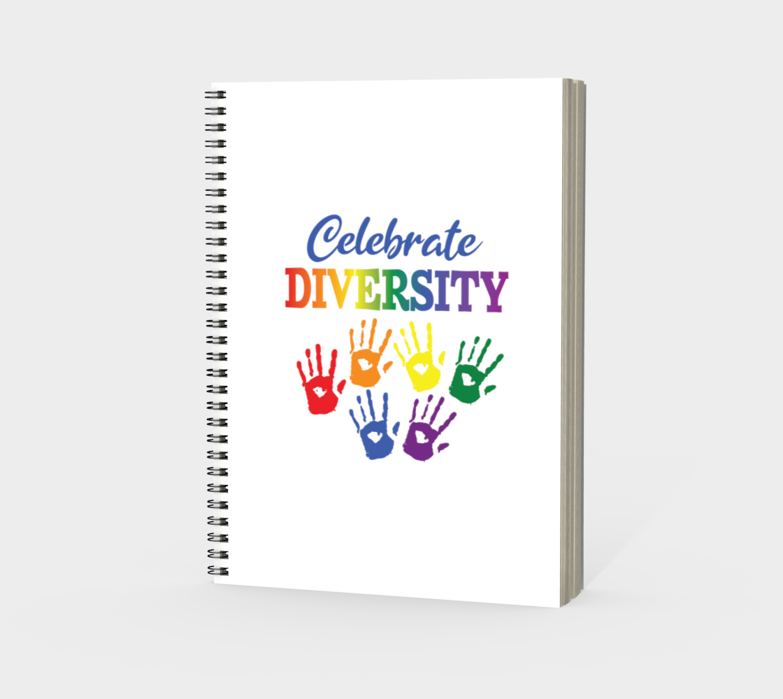 'Celebrate Diversity' (White) Spiral Notebook preview #3