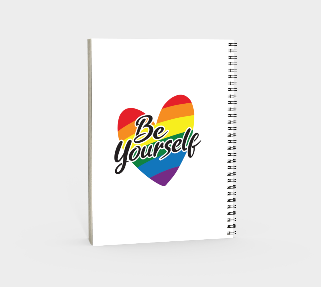 'Be Yourself' (White) Spiral Notebook preview #4
