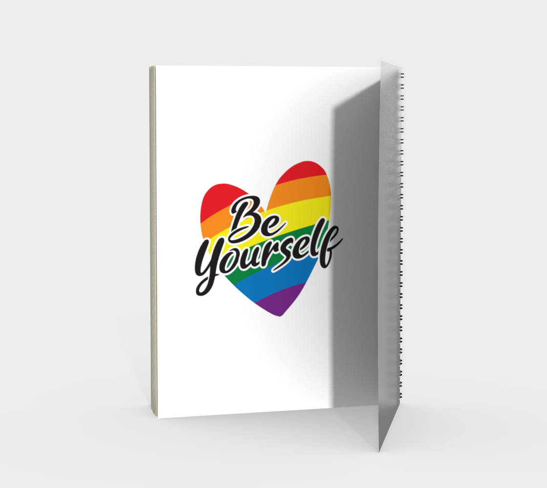 'Be Yourself' (White) Spiral Notebook preview #2