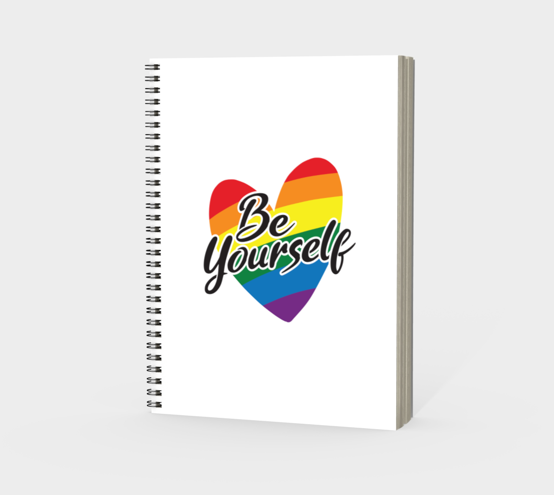 'Be Yourself' (White) Spiral Notebook preview #3