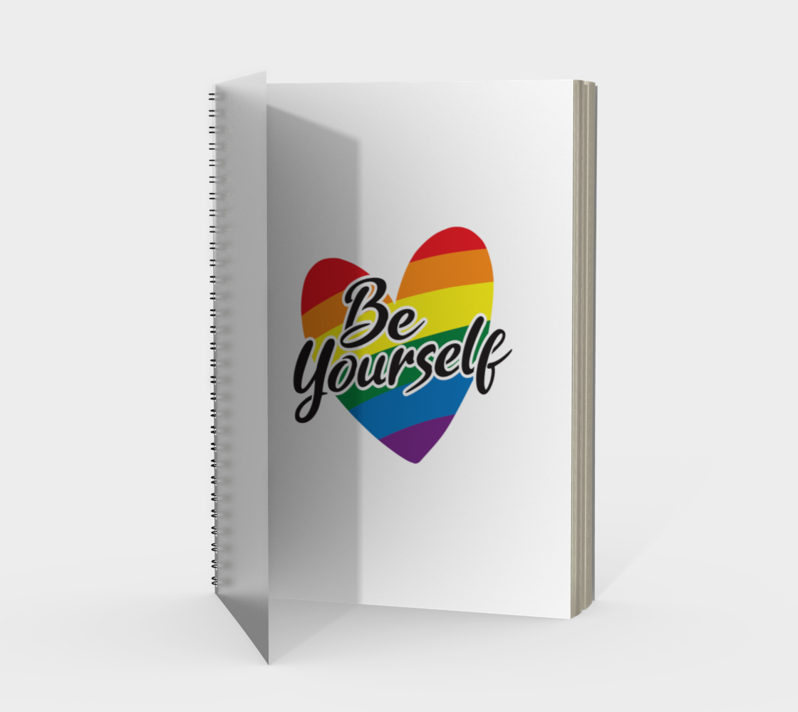 'Be Yourself' (White) Spiral Notebook preview