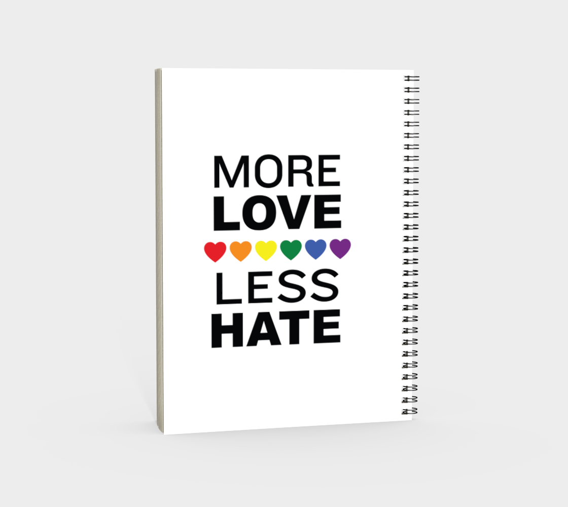 'More Love More Hate' (White) Spiral Notebook preview #4