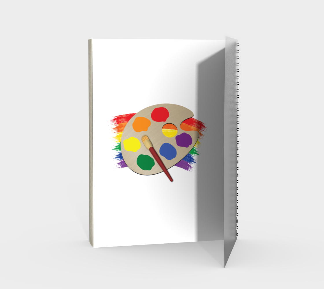'Artist Palette' (White) Spiral Notebook preview #2