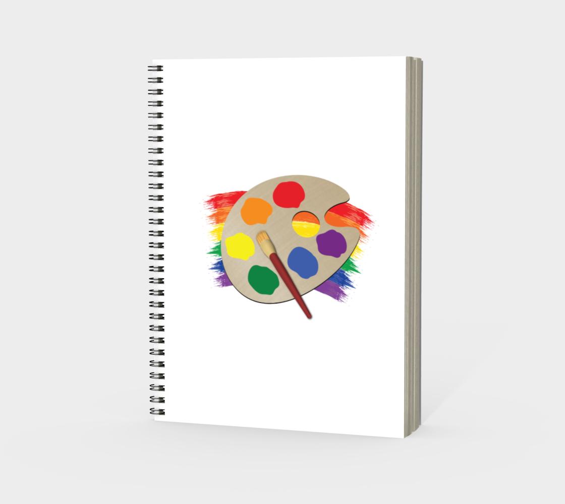'Artist Palette' (White) Spiral Notebook preview #3