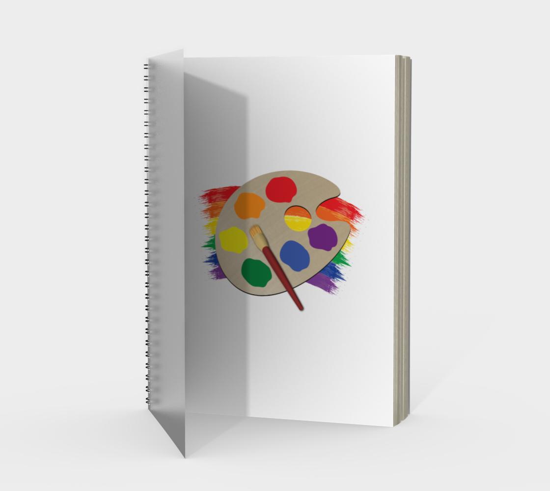 'Artist Palette' (White) Spiral Notebook preview #1