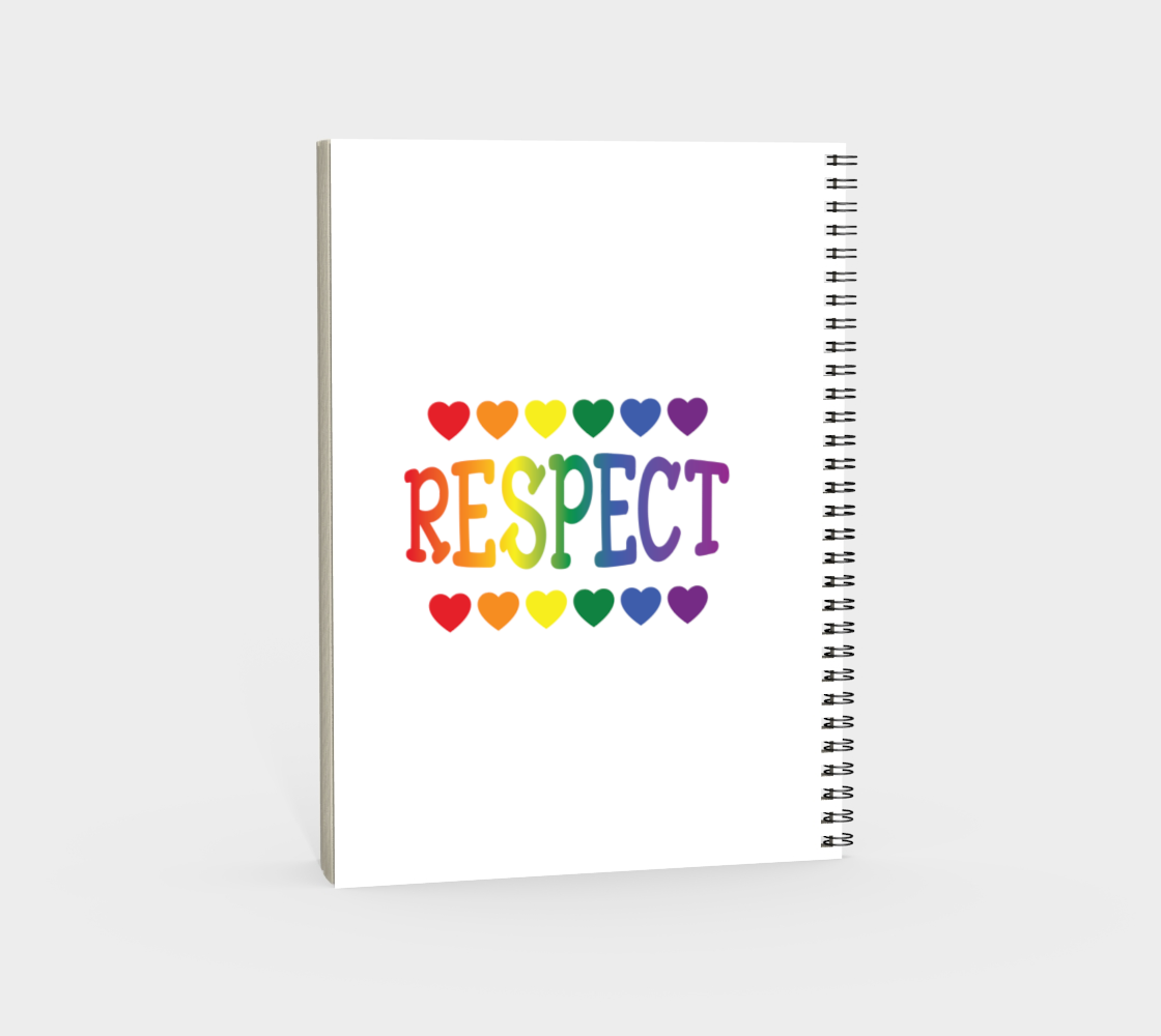 'Respect' (White) Spiral Notebook preview #4