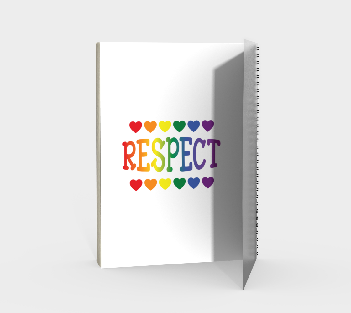 'Respect' (White) Spiral Notebook preview #2