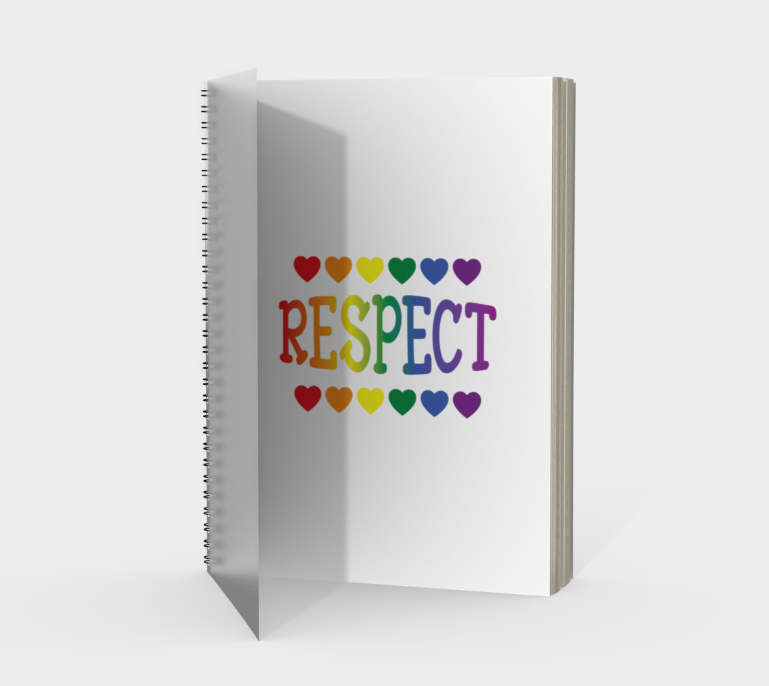 'Respect' (White) Spiral Notebook preview #1