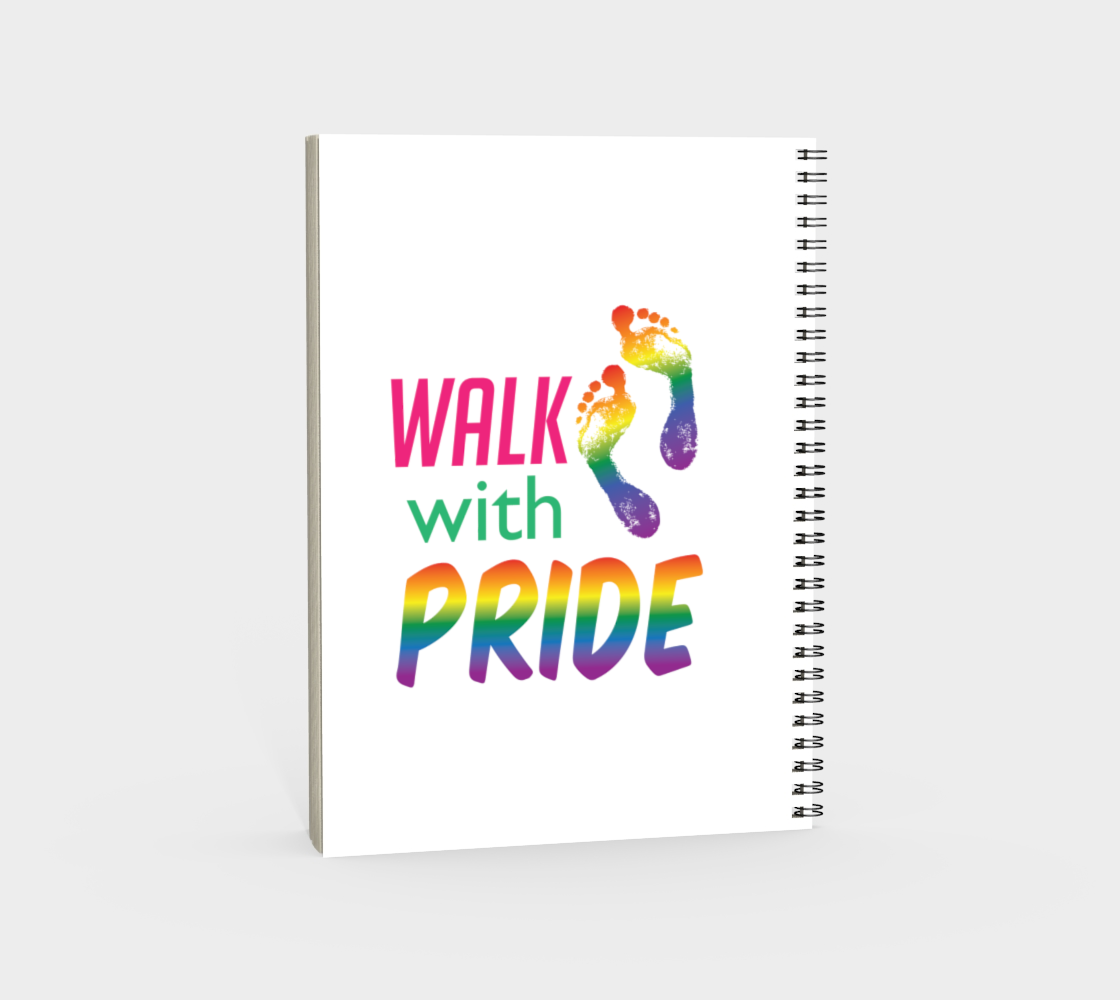 'Walk With Pride' (White) Spiral Notebook preview #4