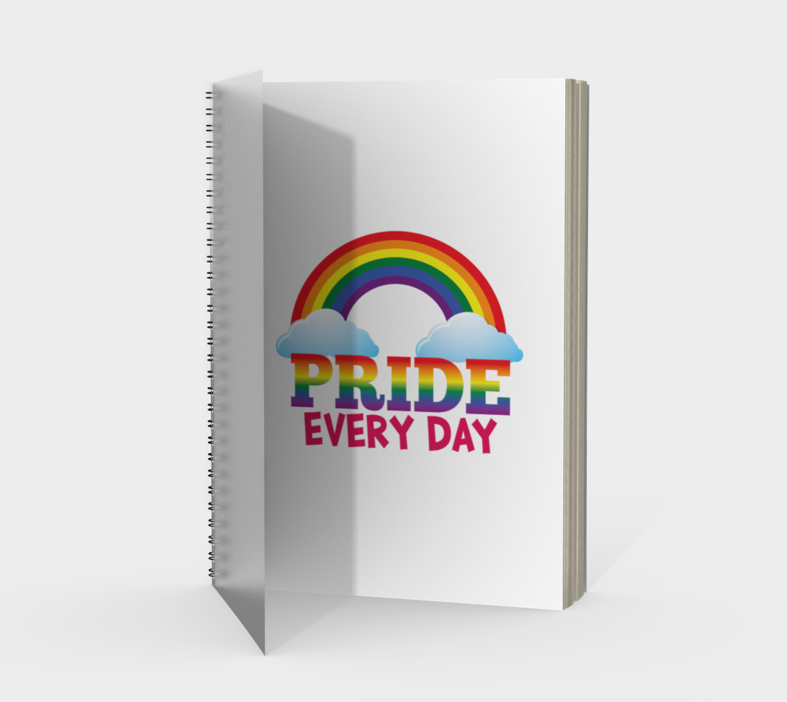'Pride Every Day' (White) Spiral Notebook preview #1