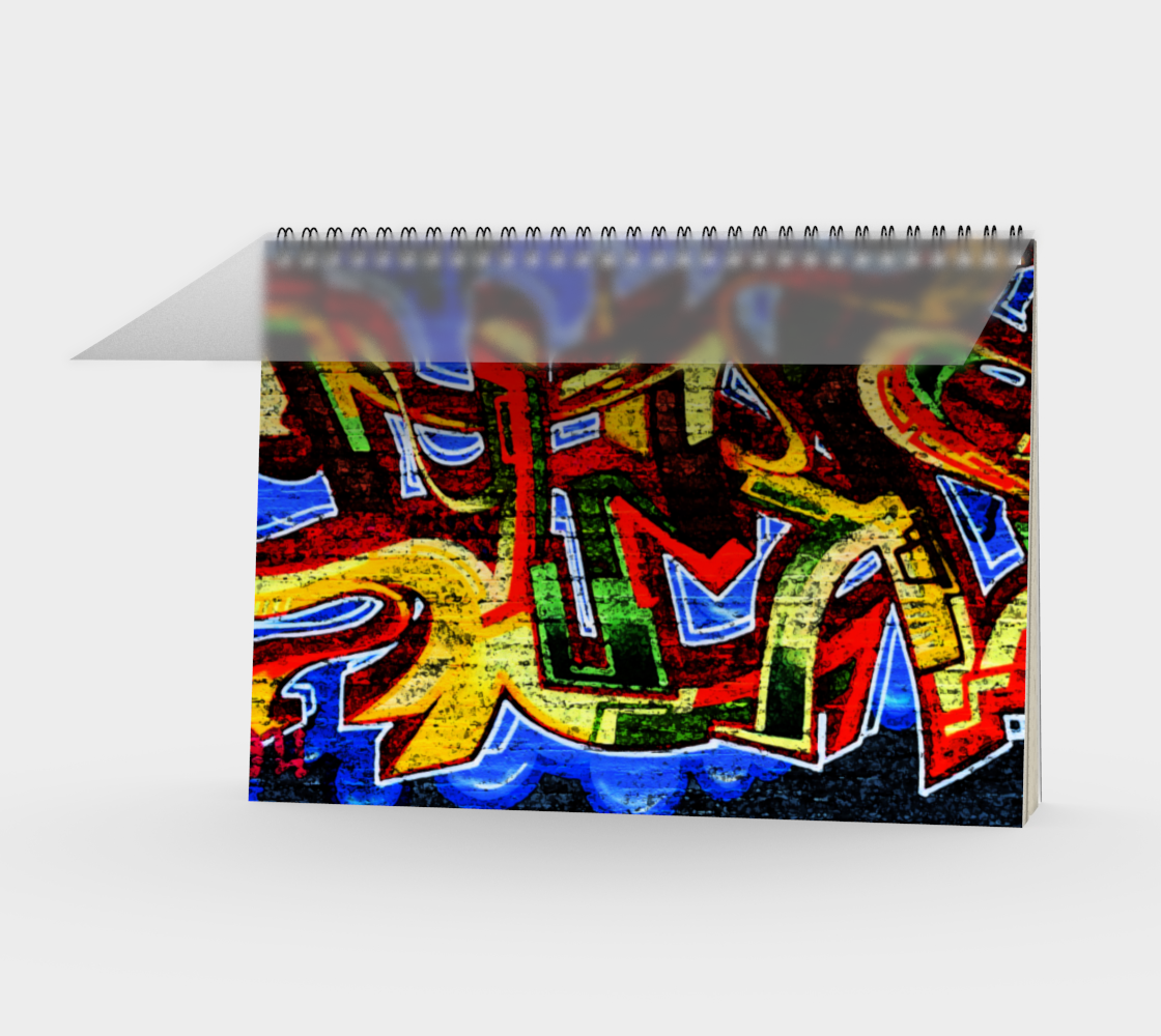 Graffiti 17 Spiral Notebook preview #1