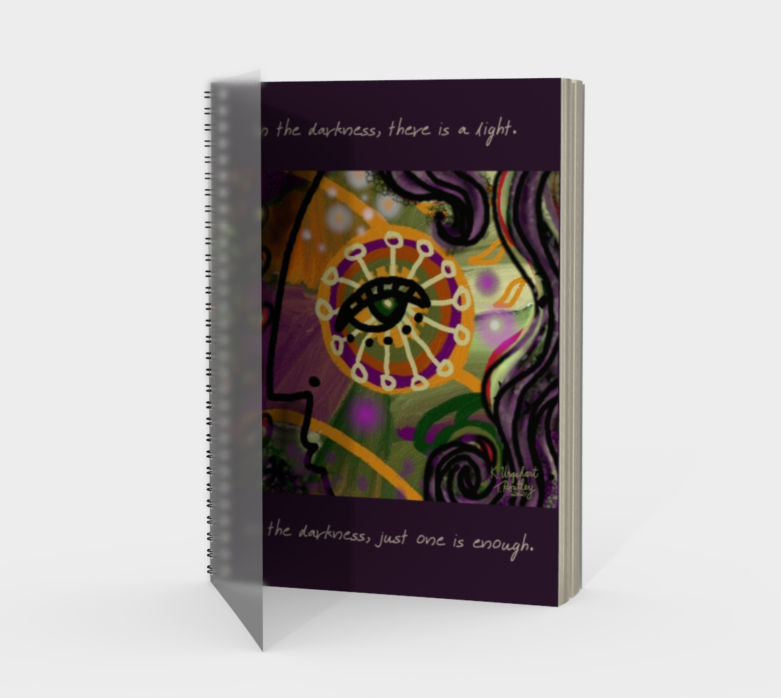 A Light in the Darkness Spiral Notebook preview