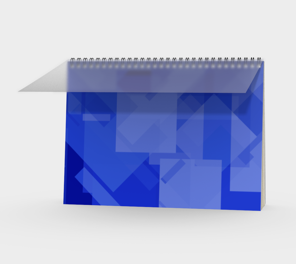 Blue is Better Spiral Notebook preview
