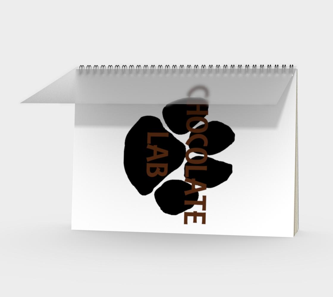 Labrador Retriever chocolate name paw spiral notebook preview