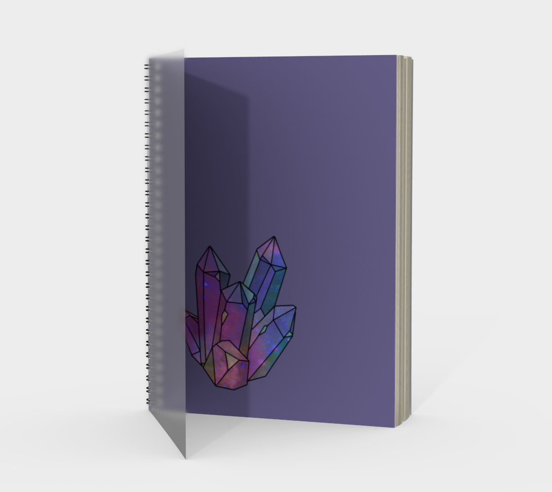 Cosmic Crystals Amethyst Rainbow Spiral Notebook Lavender preview