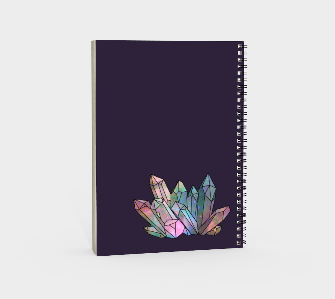 Cosmic Crystals Rainbow Spiral Notebook Dark Lilac preview #4