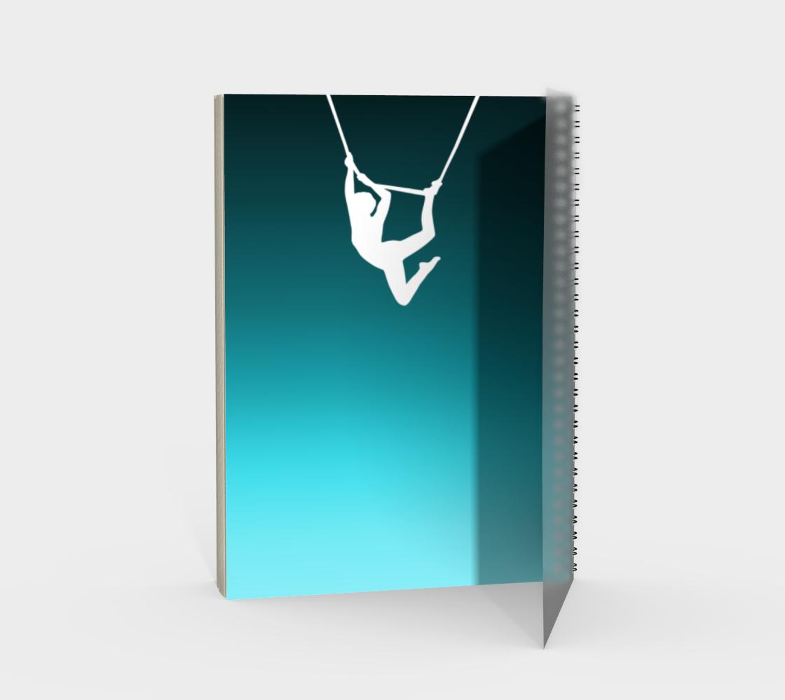 Aerial Ombre Spiral Notebook Aqua preview #2