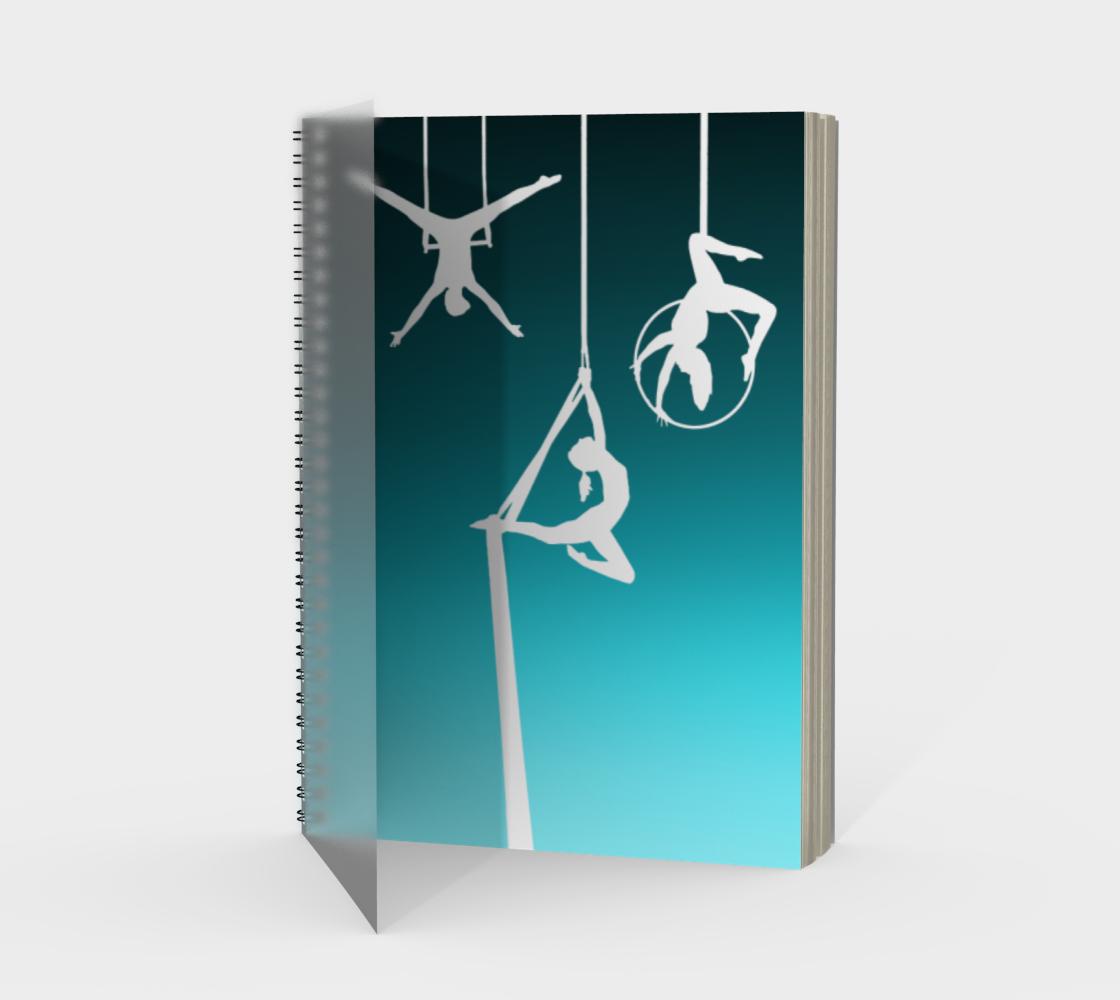 Aerial Ombre Spiral Notebook Aqua preview