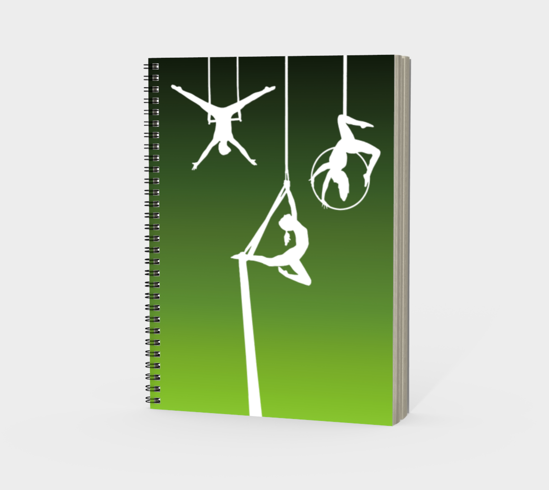 Aerial Ombre Spiral Notebook Moss Green preview #3