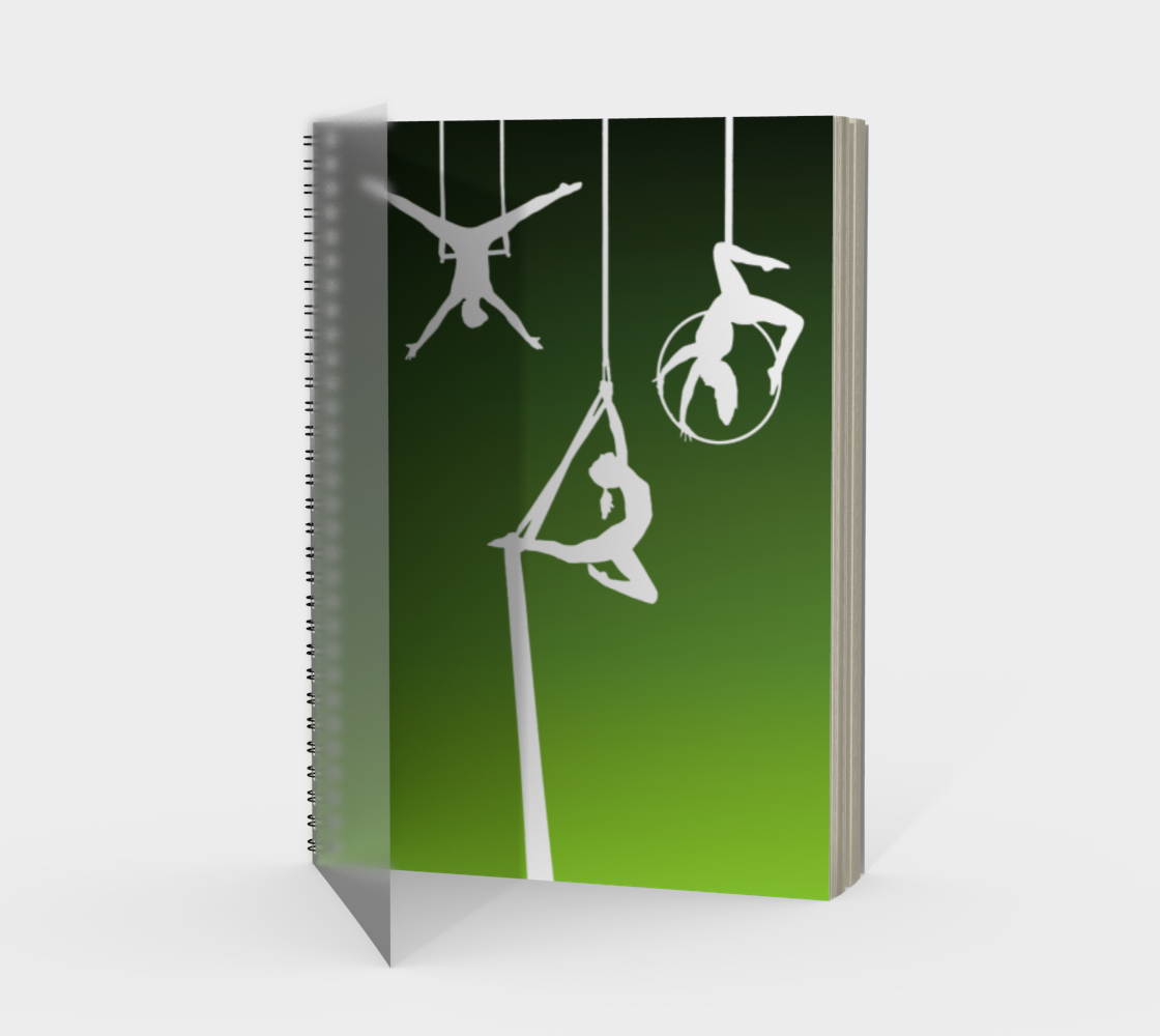 Aerial Ombre Spiral Notebook Moss Green preview
