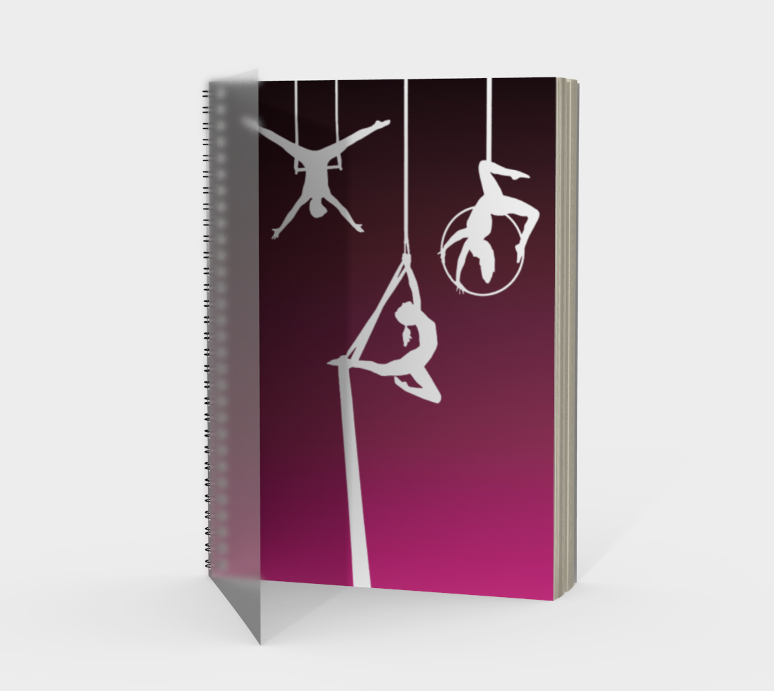 Aerial Ombre Spiral Notebook Rose preview