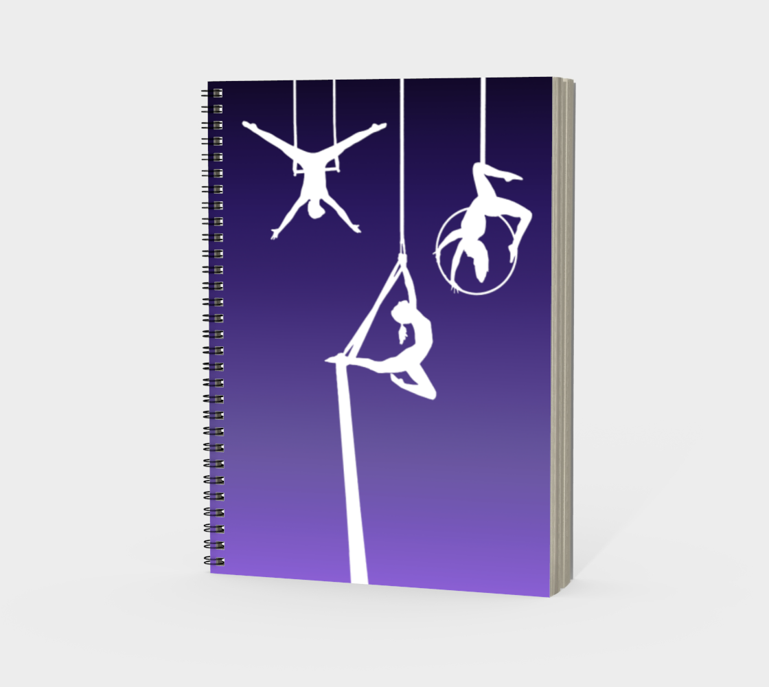 Aerial Ombre Spiral Notebook Amethyst preview #3