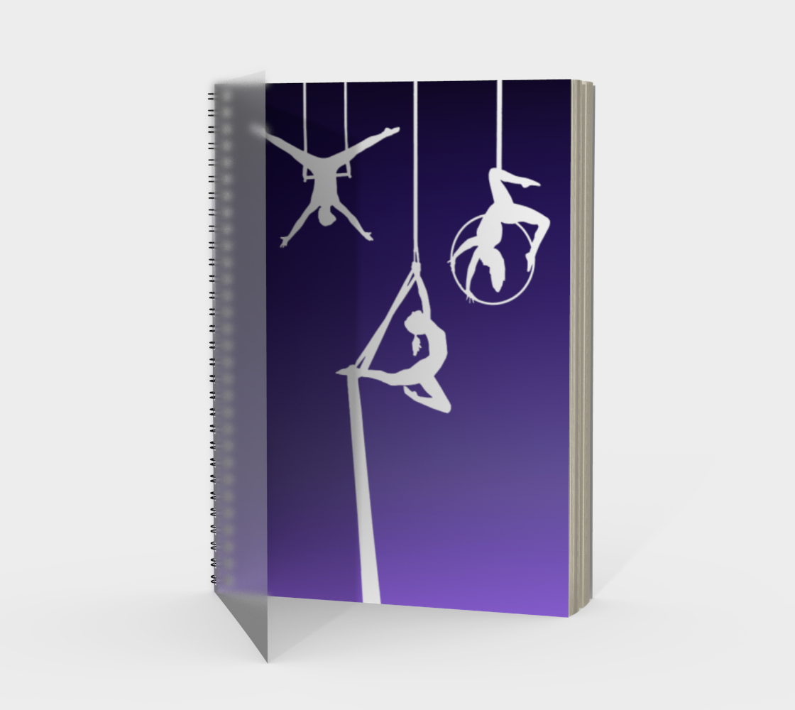 Aerial Ombre Spiral Notebook Amethyst preview #1