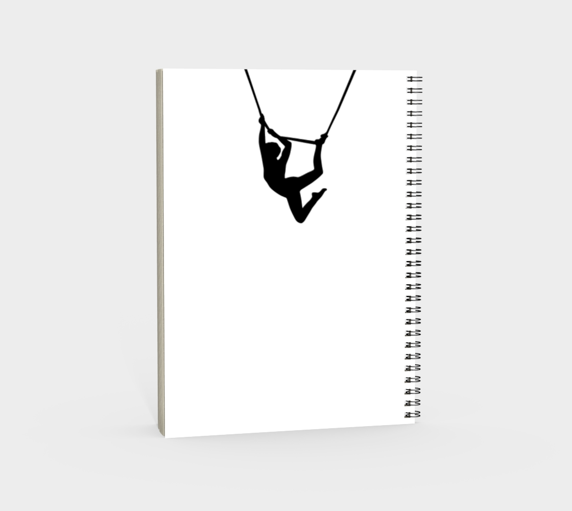 Aerial Circus Spiral Notebook Black and White preview #4