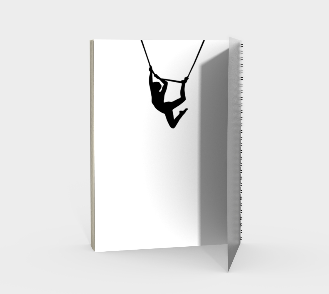 Aerial Circus Spiral Notebook Black and White preview #2