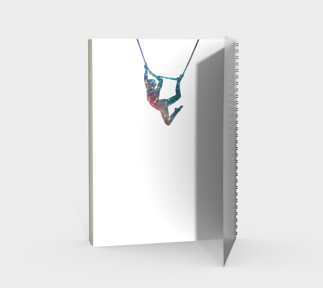 Aerial Stars Spiral Notebook White preview #2