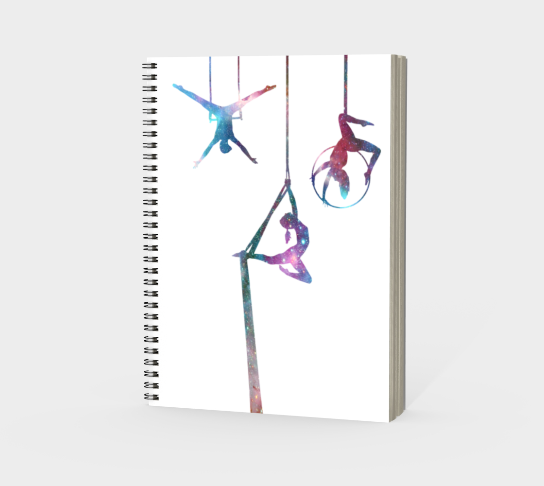 Aerial Stars Spiral Notebook White preview #3