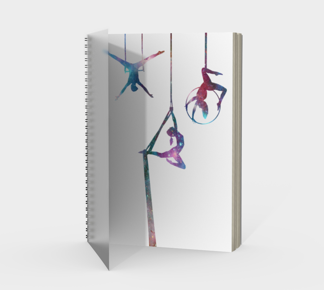Aerial Stars Spiral Notebook White preview