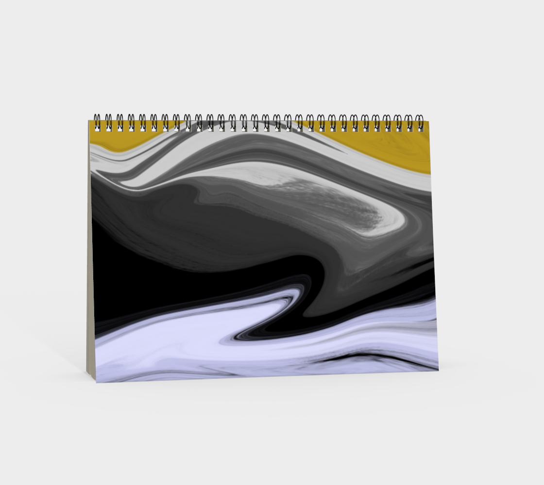 Liquid Black Gold Spiral Notebook preview #4