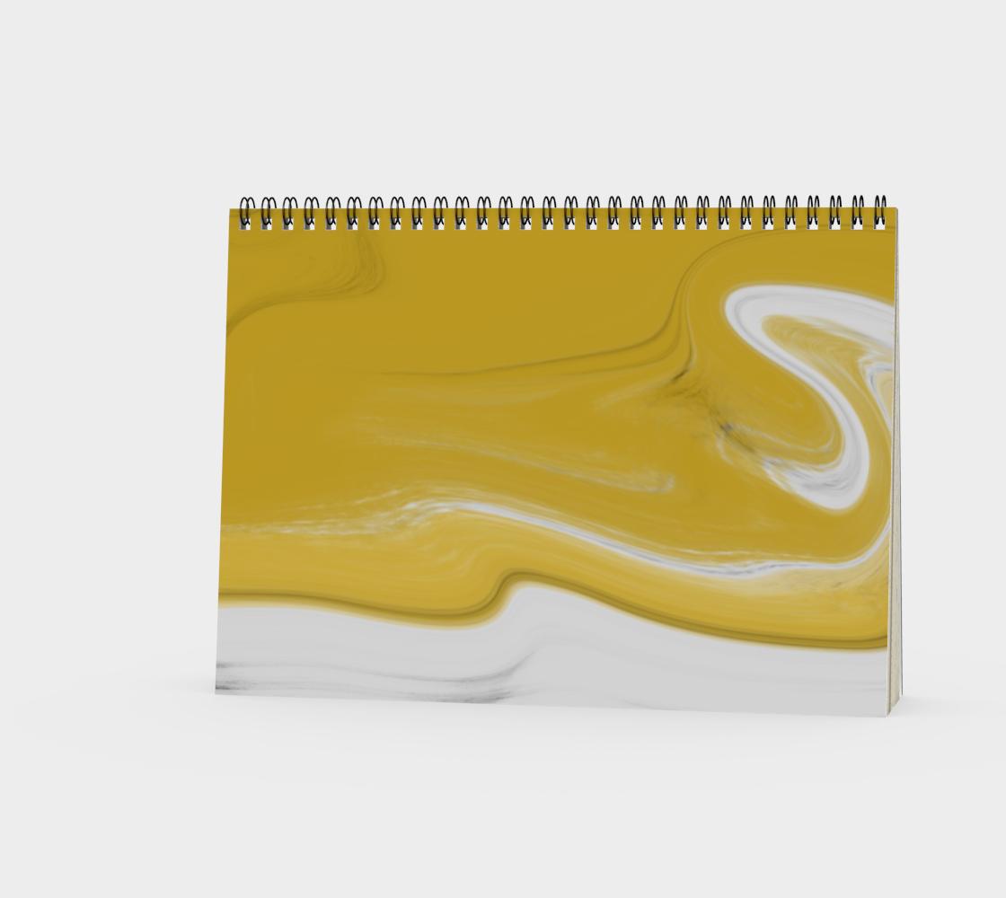 Liquid Black Gold Spiral Notebook preview #3