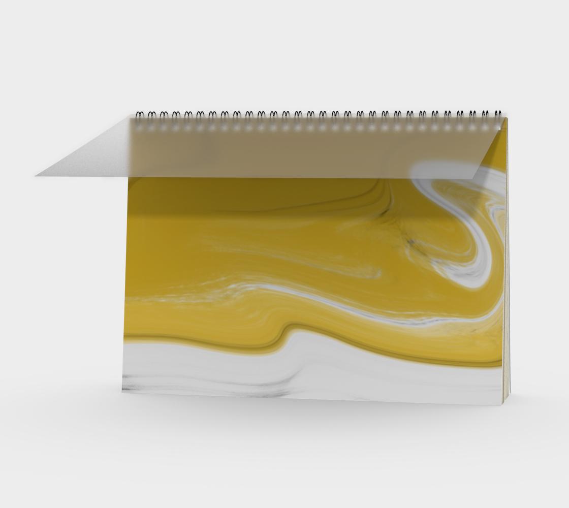 Liquid Black Gold Spiral Notebook preview #1